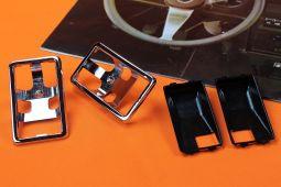 Set Chrome Frames + Insert Door Opener Opel GT